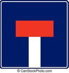 Dead End - vector traffic sign
