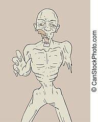 dead man illustration terror