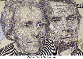 Dead Presidents - Headshot of Jefferson and Lincoln