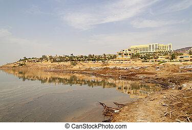 Dead sea coast at Jordan, Middle East