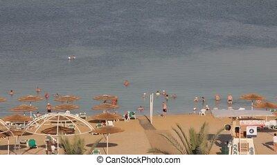 Dead Sea hotel beach