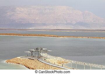 Dead Sea landscape & Jordan hills