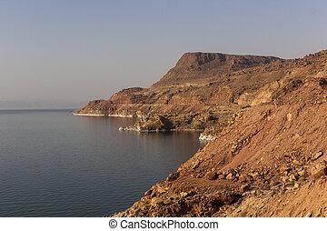 Dead sea, one of the world's saltiest lake, Jordan