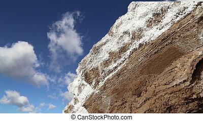 dead sea salt at Jordan, Middle East