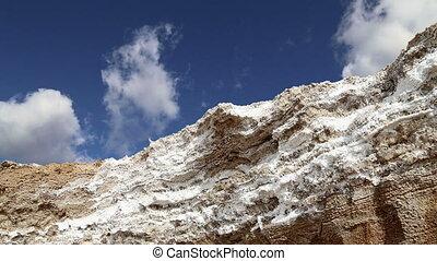 dead sea salt at Jordan