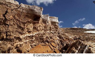dead sea salt at Jordan,Middle East