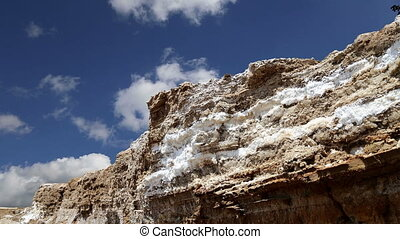 dead sea salt at Jordan,Middle East