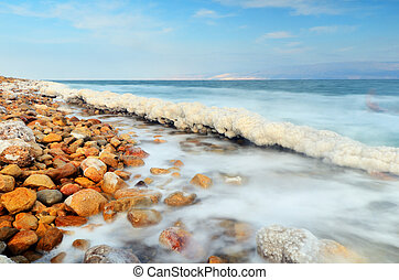 Dead Sea - Salt formations in the Dead sea of Israel.