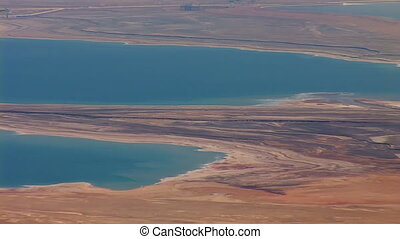 Dead Sea view from the mountain top - Dead Sea (Salt Sea) -...