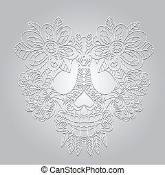 Dead  Skull  - Day of the Dead  Sugar Skull -  Vector