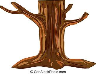 Dead tree vector icon