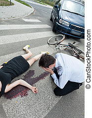 Dead woman killed by driver