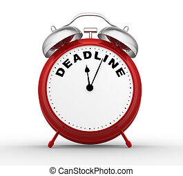 Deadline - 3d render alarm-clock with DEADLINE