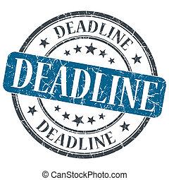 deadline, blauwe , grunge, textured, ouderwetse ,...