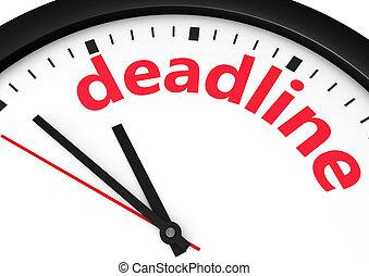Deadline Business Time Concept