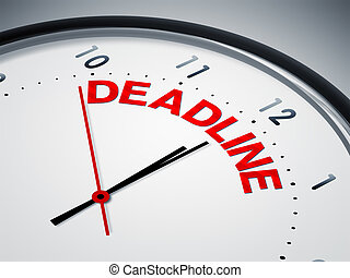 deadline - An image of a nice clock with deadline