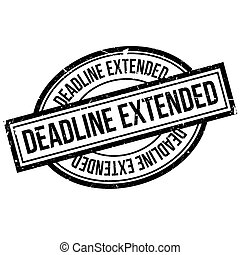 Deadline Extended rubber stamp