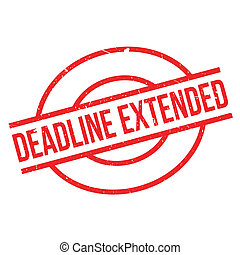 Deadline Extended rubber stamp. Grunge design with dust...