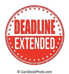 Deadline extended stamp