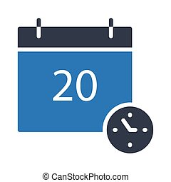 deadline glyph color vector icon