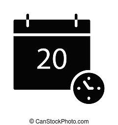 deadline glyph flat vector icon
