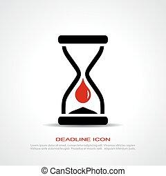 Deadline icon - Deadline vector icon