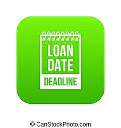 Deadline icon green