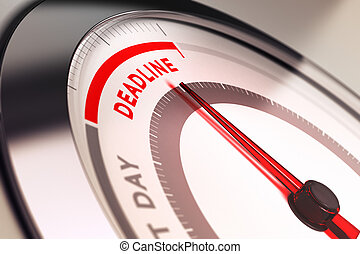 Deadline meter with needle pointing very close to the end....