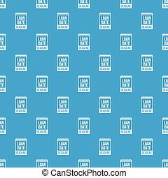 Deadline pattern vector seamless blue repeat for any use
