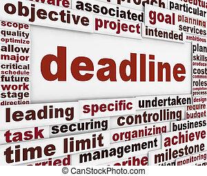 Deadline poster conceptual design