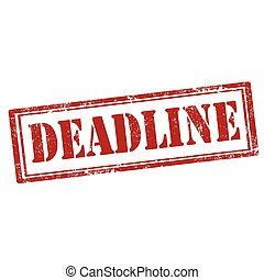 Deadline-red stamp