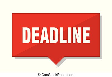 deadline red tag - deadline red square price tag
