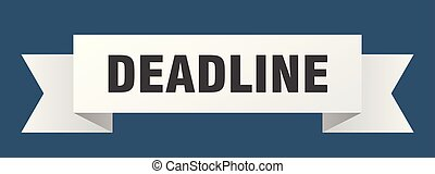 deadline ribbon. deadline isolated sign. deadline banner