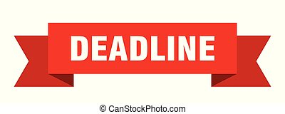 deadline ribbon. deadline isolated sign. deadline banner