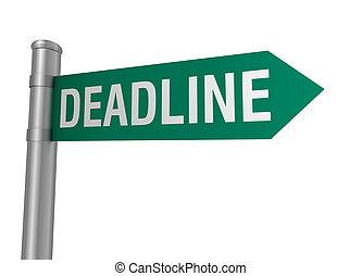 deadline road sign 3d illustration