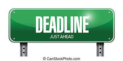 deadline road sign illustration design