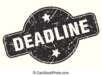 deadline round grunge isolated stamp