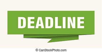 deadline sign. deadline paper origami speech bubble....