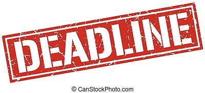 deadline square grunge stamp