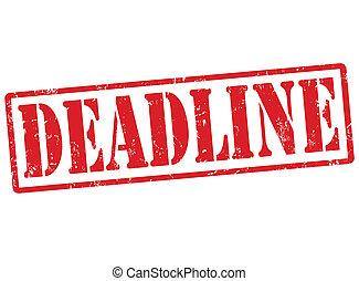 Deadline stamp - Deadline grunge rubber stamp on white,...