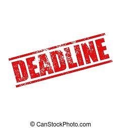 Deadline stamp grunge