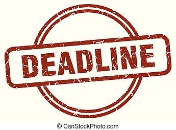 deadline stamp isolated on white