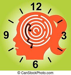 Deadline stressed woman