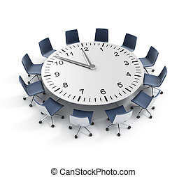 deadline, tafel, vergadering, ronde