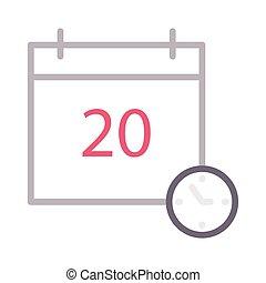 deadline thin color line vector icon
