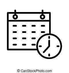 deadline thin line icon