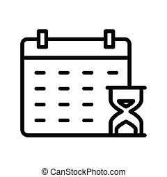 deadline thin line vector icon