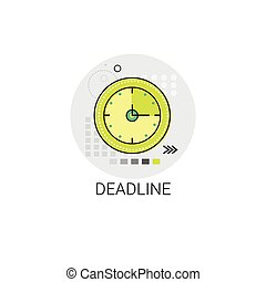 Deadline Time Management Business Timing Clock Icon