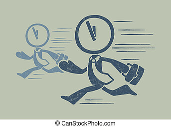 Vintage conceptual illustration of deadline Vector file has 3 layers: 1-background 2-illustration 3-broken effect