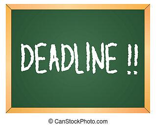 deadline word on chalkboard